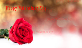 St.Valentines postcard Royalty Free Stock Photo