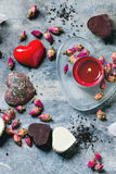 St.-Valentinsgruß-Grußkarte Stockfoto