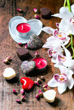 St.-Valentinsgruß-Grußkarte Lizenzfreies Stockfoto