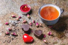 St.-Valentinsgruß-Grußkarte Stockfotos