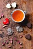 St.-Valentinsgruß-Grußkarte Stockbilder