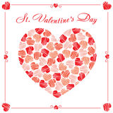 St.-Valentinsgruß-Tagespostkarte Stockbilder