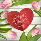 St.-Valentinsgrußtageskarte ENV 10 Stockfoto