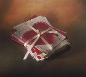 St., Valentinstagkartenstapel Stockbild