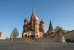 St. van de kathedraal Basilicum in Moskou, Rusland Royalty-vrije Stock Foto's