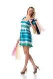 St van de vrouw het winkelen Stock Foto's