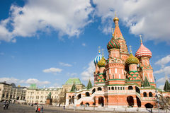 St. Vasil's Cathedral on the Red Square Royalty Free Stock Image