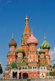 St Vasily Blessed cathedral in Moscow. Famous st Vasily Blessed cathedral in Moscow Royalty Free Stock Photos