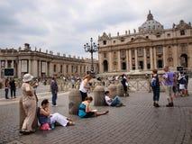 st vatican Италии peter s basillica квадратный Стоковые Фото