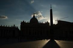 st vatican peter rome s фонтана города bernini базилики предпосылки квадратный Стоковая Фотография