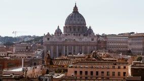 st vatican peter rome s фонтана города bernini базилики предпосылки квадратный st peter s базилики Панорамный взгляд Рима и St Стоковое Фото