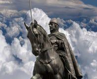 St. Venceslas statue in Prague Stock Photos