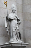 St. Vergilius statue at Salzburg Cathedral, Austria Royalty Free Stock Image