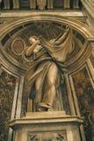 St Veronica雕象,圣皮特圣徒・彼得大教堂,梵蒂冈,罗马,意大利 免版税库存照片