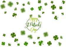 St vert Patrick Day de trèfle Photo libre de droits