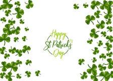 St vert Patrick Day de trèfle Photographie stock libre de droits