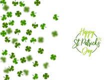 St vert Patrick Day de trèfle Image libre de droits
