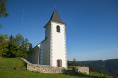 St. Vid church, Tuhinj valley, Slovenia Royalty Free Stock Photography
