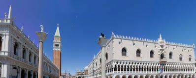 St. Vierkant Venetië van het teken Royalty-vrije Stock Foto's