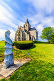 St Vigor Abbey at Cerisy-la Forêt, France. Cerisy-la-Forêt is a French commune in the department of Manche in Normandy region, France Royalty Free Stock Image