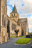 St Vigor Abbey at Cerisy-la Forêt, France. Royalty Free Stock Photo