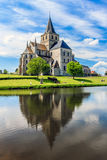 St Vigor Abbey at Cerisy-la Forêt, France. Royalty Free Stock Photos