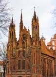 st vilnius церков Аннеы Стоковые Фото