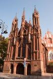 st vilnius церков s Аннеы Стоковые Фотографии RF