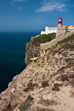 St. Vincent Cape and lighthouse, Portugal. Royalty Free Stock Images