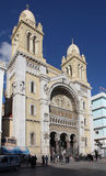 St Vincent de Paul cathedral in Tunis Stock Images