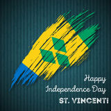 St. Vincent Independence Day Patriotic Design. Royalty Free Stock Images