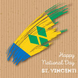 St. Vincent Independence Day Patriotic Design. Royalty Free Stock Image