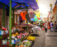 St Vincent & l'isola di granatine Immagini Stock