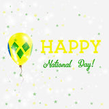 St. Vincent National Day patriotic poster. Stock Photos