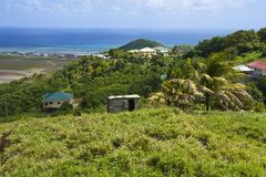 St Vincent panorama, Grenadines Stock Image