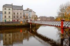 St. Vincent's footbridge. Cork, Ireland Royalty Free Stock Image