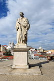 St. Vincent statue. In Alfama district, Lisbon, Portugal royalty free stock photos