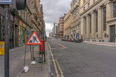 St Vincent Street at the Banking Centre of Glasgow stock images