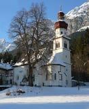 st-vinter för gnadenwald im martin Arkivbilder