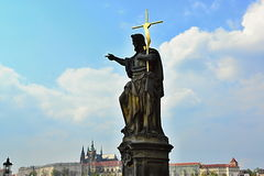 St. Vit cathedral in area of Prague castle Stock Photos