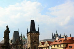 St. Vit cathedral in area of Prague castle Royalty Free Stock Photo