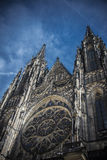 St Vit Cathedral Prague Royaltyfri Bild