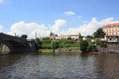 St Vita Church in Praag Stock Afbeeldingen