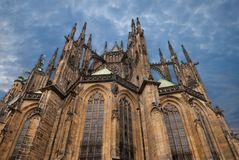 St. Vita`s Cathedral in Prague Stock Photos