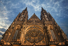 St. Vita`s Cathedral in Prague at the night Royalty Free Stock Photo