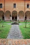 St. Vitale basilica church cloister Royalty Free Stock Photo