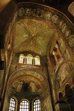 St. Vitale basilica church mosaic Royalty Free Stock Photography