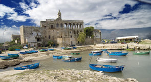 St. Vito. View of the San Vito abbey near Polignano a Mare, in the Italian region of Puglia Stock Photos