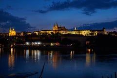 St Vitus和圣尼古拉斯教会,捷克 库存图片