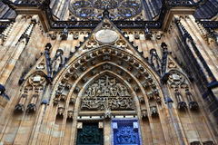 St Vitus大教堂在布拉格, Chezch Republilc 库存照片